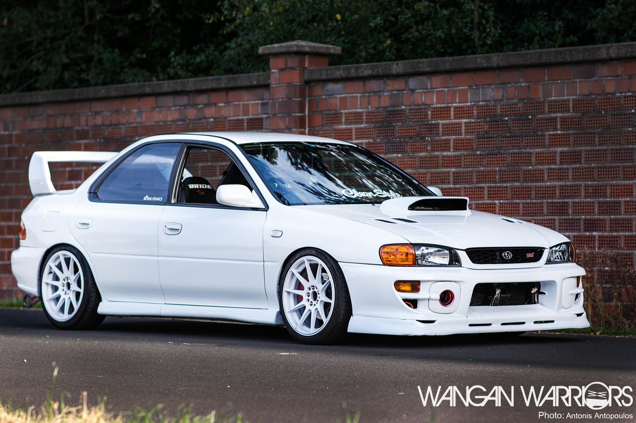 that frozen white subaru impreza sti wangan warriors. Black Bedroom Furniture Sets. Home Design Ideas
